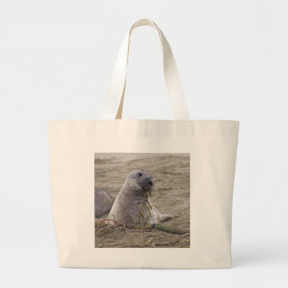 Northern Elephant Seal Baby Large Tote Bag
