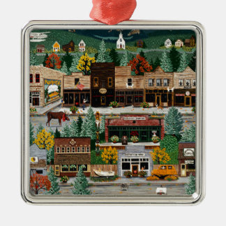 """Northern Exposure"" ~ Roslyn, Washington Metal Ornament"