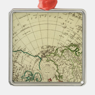 Northern Hemisphere 2 Silver-Colored Square Ornament