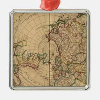 Northern Hemisphere 5 Silver-Colored Square Ornament
