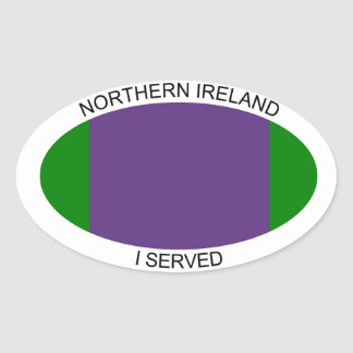 "Northern Ireland car sticker ""i served"""