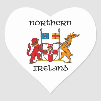 Northern Ireland - coat of arms/symbol/emblem Heart Sticker