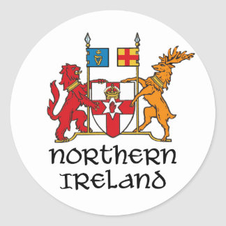 NORTHERN IRELAND - flag/coat of arms/emblem/symbol Round Sticker