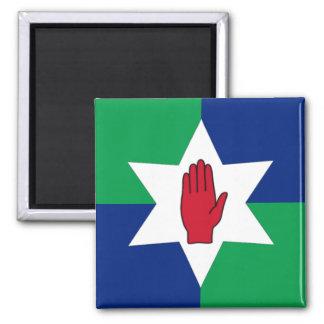 Northern Ireland Magnet - Star on Green & Blue