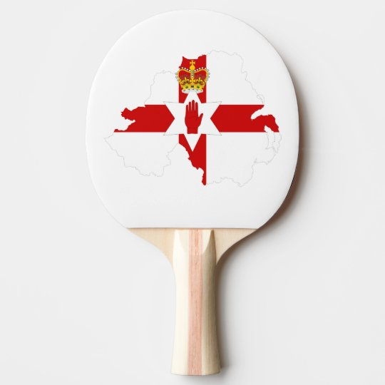 Northern Ireland Map Flag Ping Pong Paddle