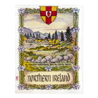 Northern Ireland Mourne mountains postcard