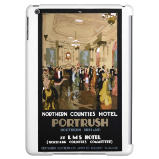Northern Ireland Portrush Vintage Travel Poster iPad Air Case