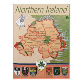 Northern Ireland retro Postcard