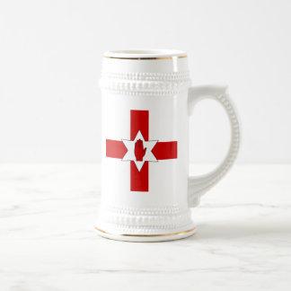 Northern Ireland Stein - Star & Hand on Cross