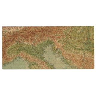 Northern Italy, Austria, &c Wood USB 2.0 Flash Drive