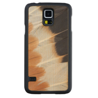 Northern Lapwing Feather Abstract Carved Maple Galaxy S5 Case