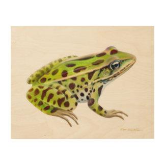 Northern Leopard Frog Wood Wall Art Wood Prints