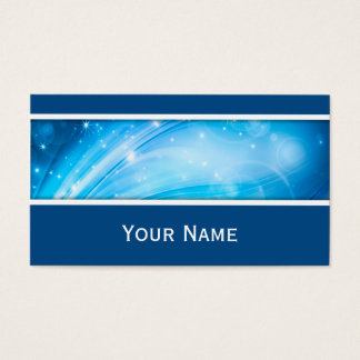Northern Light Stars blue + your text & ideas Business Card