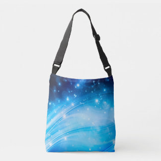 Northern Light Stars blue + your text & ideas Crossbody Bag