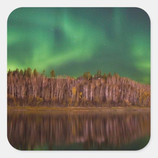 Northern Lights Alberta Square Stickers