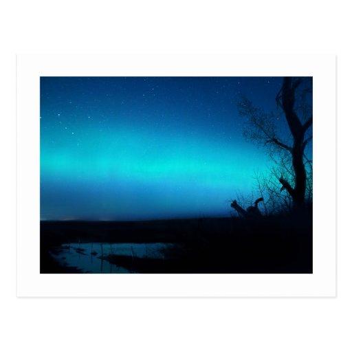 Northern Lights and a pond Postcards
