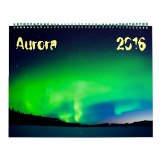 Northern Lights, Aurora borealis 2016 Calendar