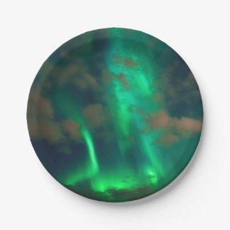 Northern Lights, Aurora Borealis 7 Inch Paper Plate