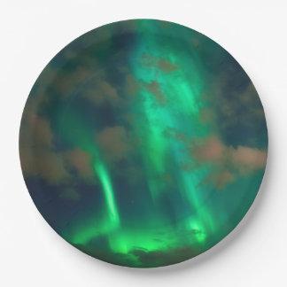 Northern Lights, Aurora Borealis 9 Inch Paper Plate