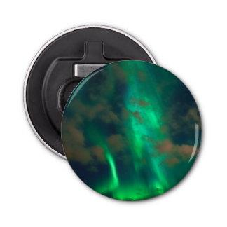 Northern Lights, Aurora Borealis Button Bottle Opener