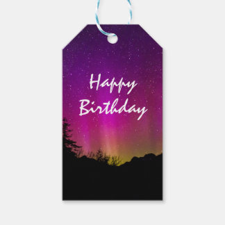 Northern Lights Aurora Borealis Happy Birthday Pack Of Gift Tags