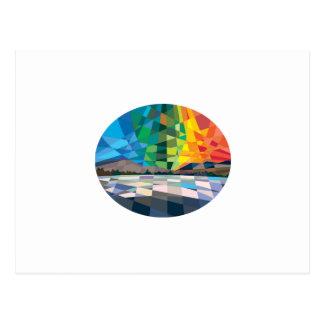 Northern Lights Aurora Borealis Low Polygon Postcard
