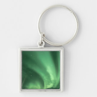 Northern lights, Aurora borealis, over foothills Keychain