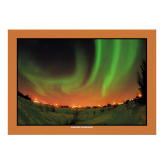 Northern Lights Aurora Borealis Poster