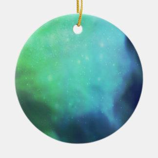 Northern Lights / Aurora Borealis Round Ceramic Ornament