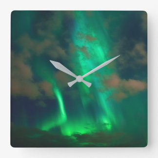 Northern Lights, Aurora Borealis Wall Clocks