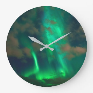 Northern Lights, Aurora Borealis Wallclock