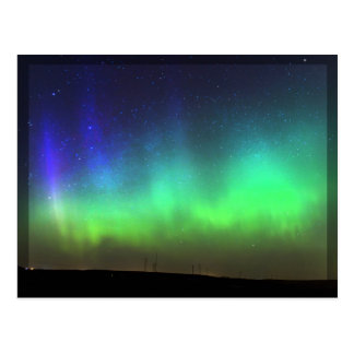 Northern Lights - black border postcard