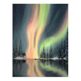 NORTHERN LIGHTS by SHARON SHARPE Postcard