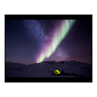 Northern lights custom personalize Aurora Borealis Poster