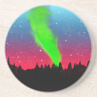 Northern Lights Drink Coaster