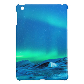 Northern lights green landscape abstract Alaska iPad Mini Covers