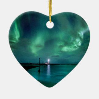 Northern Lights Iceland Ceramic Ornament
