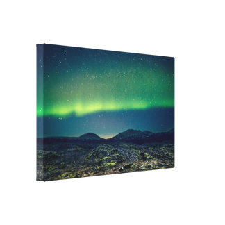 Northern lights in Iceland Canvas Print