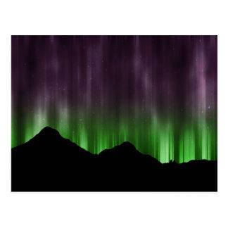 Northern Lights lines postcard