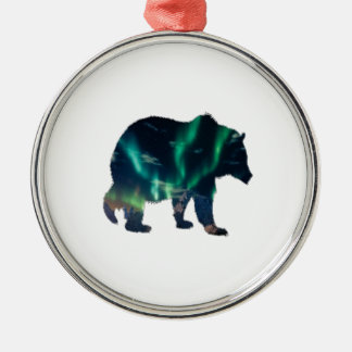 Northern Lights Metal Ornament