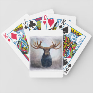 Northern Lights Moose Bicycle Playing Cards