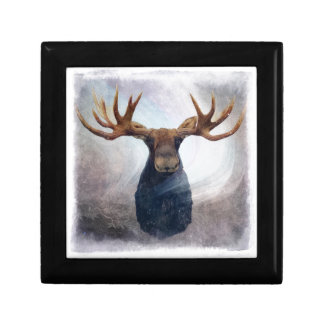 Northern Lights Moose Gift Box