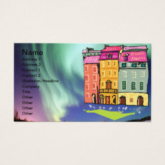 Northern Lights Night Art Peace Love Party Destiny Business Card