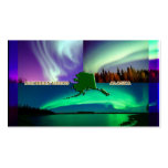 Northern Lights of Alaska Collage Business Card Templates