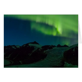 Northern Lights on Juneau Icefield (Blank Inside) Card