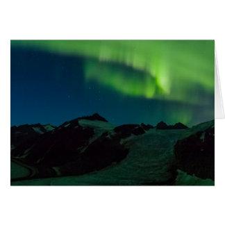 Northern Lights on Juneau Icefield (Blank Inside) Card