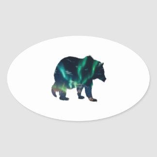 Northern Lights Oval Sticker