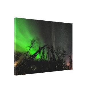 Northern Lights Over Abisko Sweden Canvas Prints