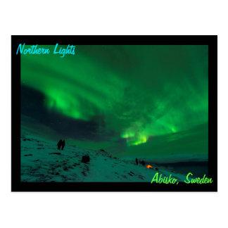 Northern Lights Over Abisko Sweden Postcard