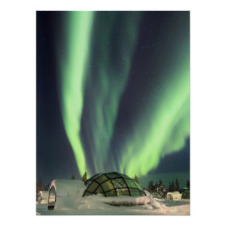 Northern Lights over Finland Poster